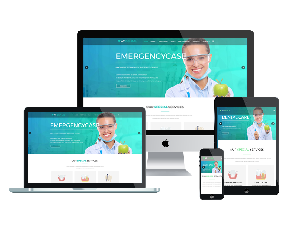 what is a responsive template - at dental free responsive dental website templates