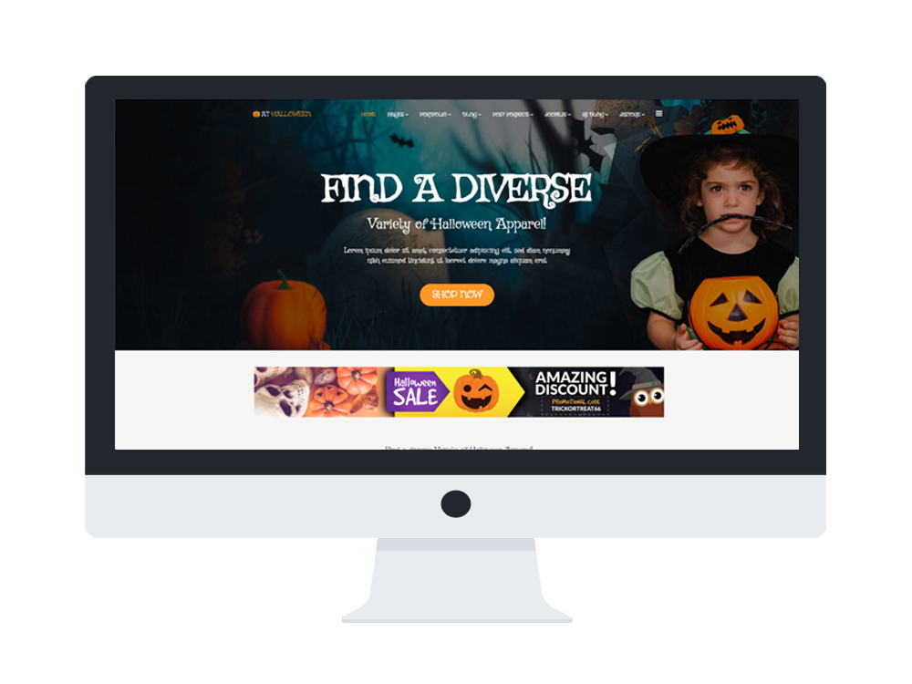 at halloween free responsive halloween website template