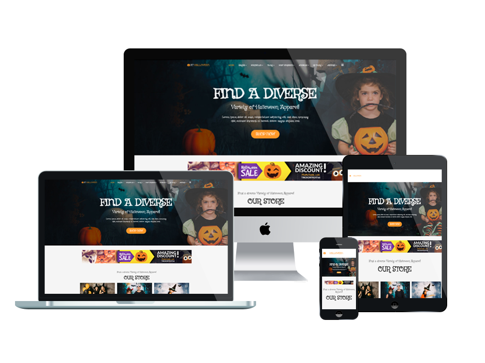 At halloween free responsive halloween website template for Free responsive website templates