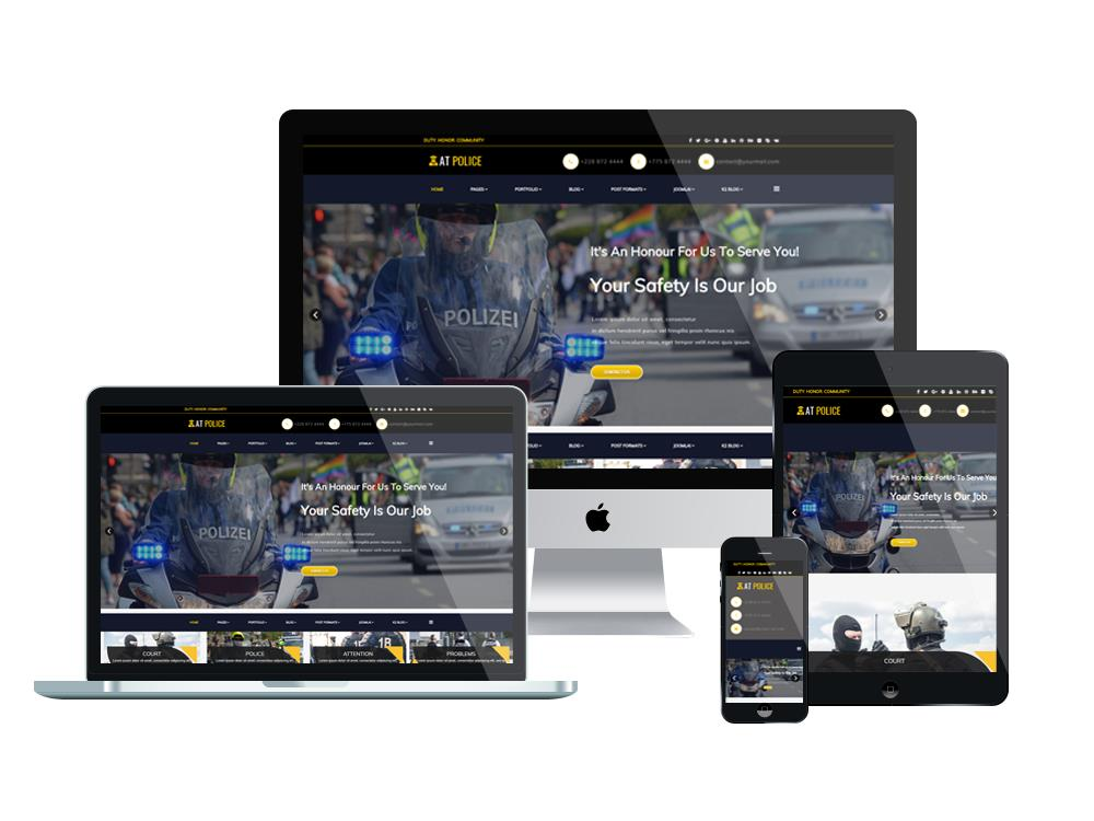 At Police Free Responsive Police Website Template