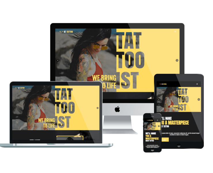 at tattoo free responsive joomla template