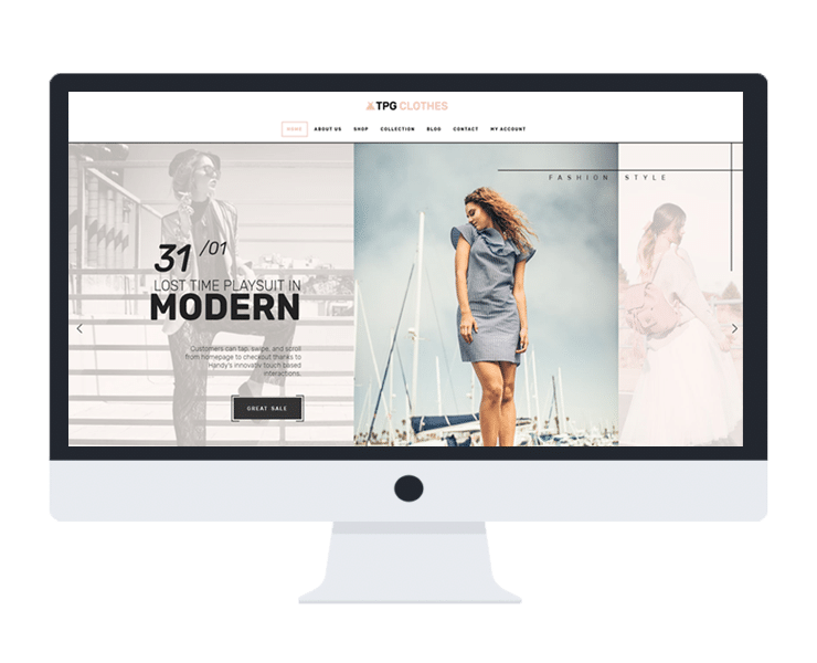 clothes fashion free wordpress theme