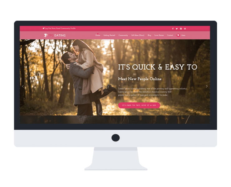 free dating wordpress theme