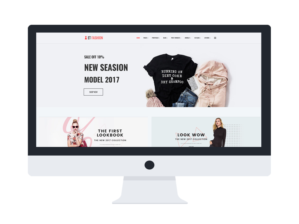 ET Fashion – Free Online Shopping Website template - Age Themes