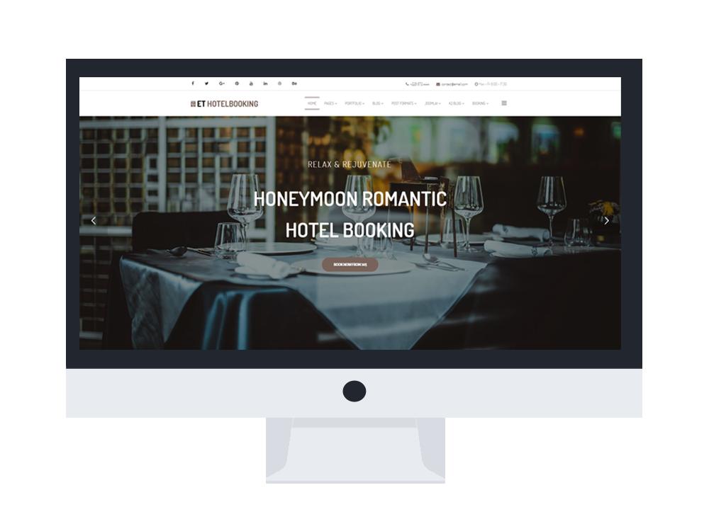 Et hotel booking elegant design joomla hotel template for Ideal hotel design booking