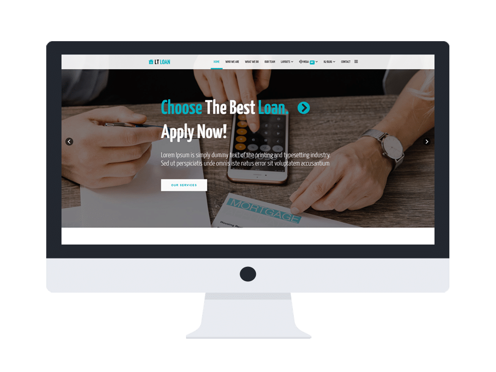 Download] borrow loan company responsive website templates nulled.