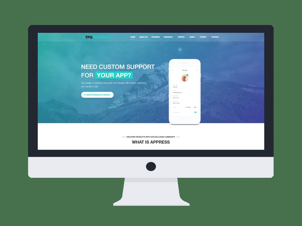 tpg appress free wordpress theme
