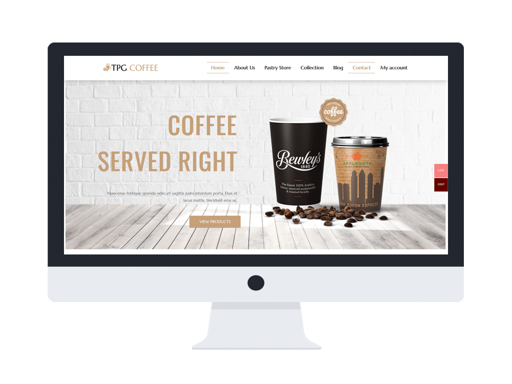 tpg coffee free wordpress theme