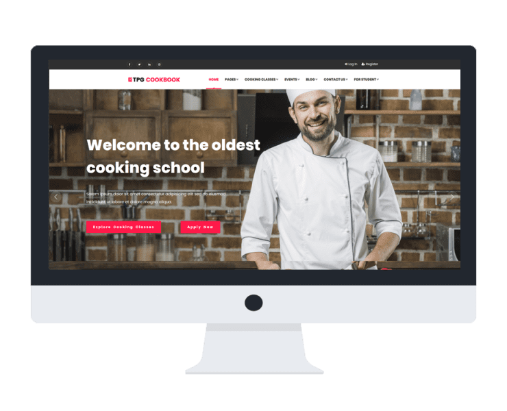 tpg cookbook free wordpress theme