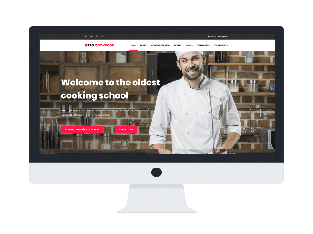 tpg cookbook free wordpress theme