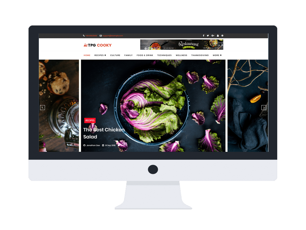 tpg cooky free wordpress theme