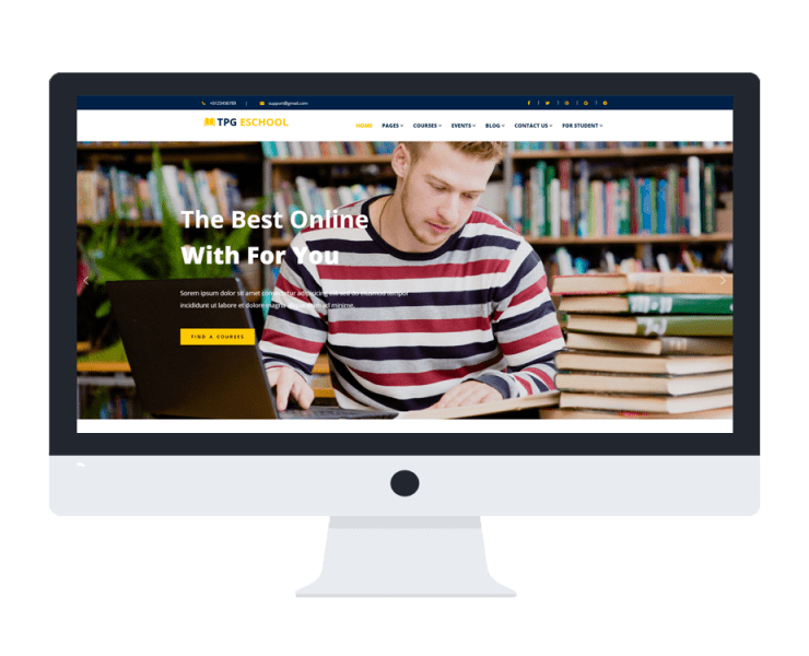 tpg eschool free wordpress theme