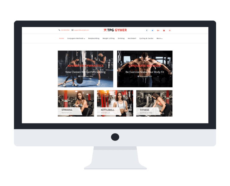tpg gymer free wordpress theme
