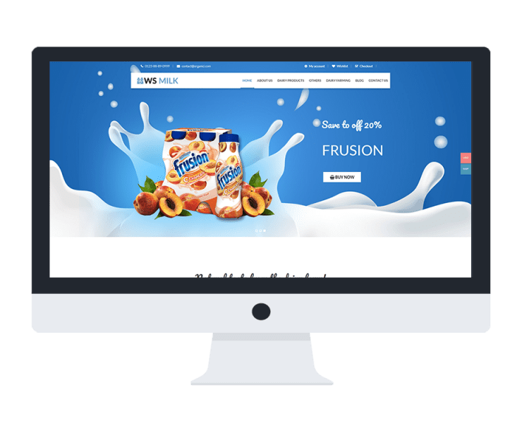 ws milk free woocommerce wordpress theme