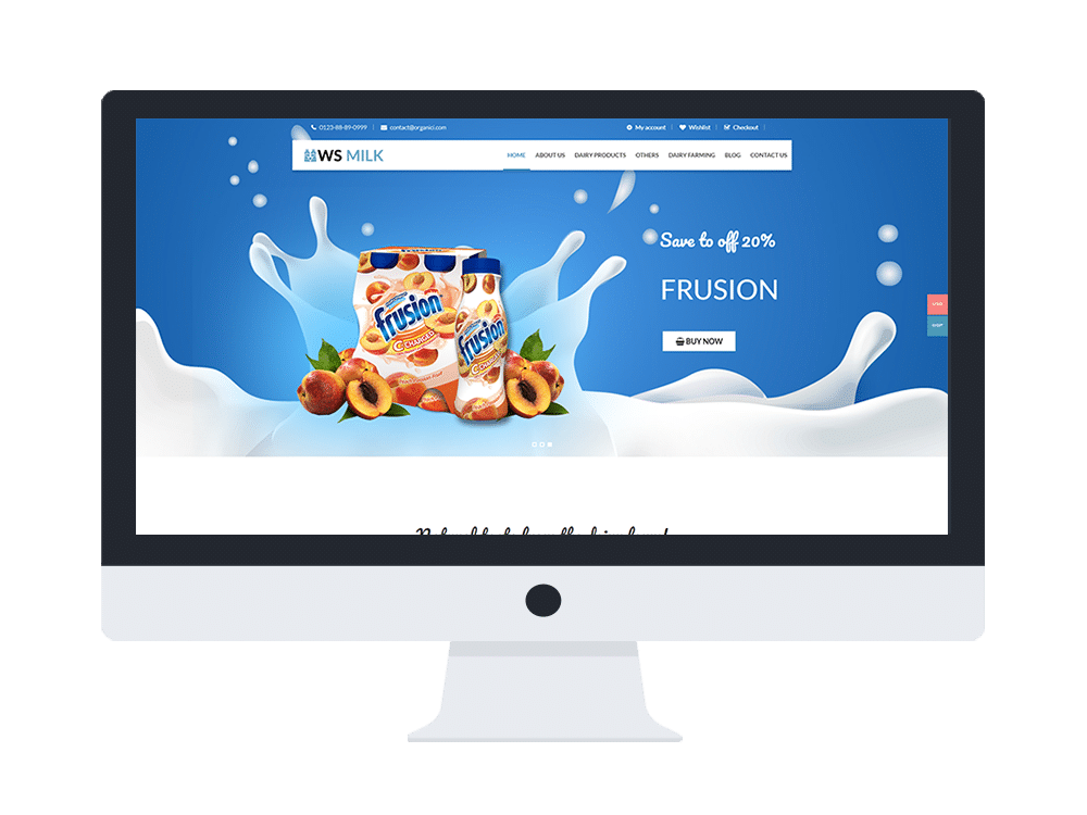 ws milk free woocommerce wordpress theme