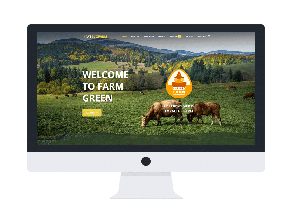 AT EcoFarm - Free Farm Joomla template