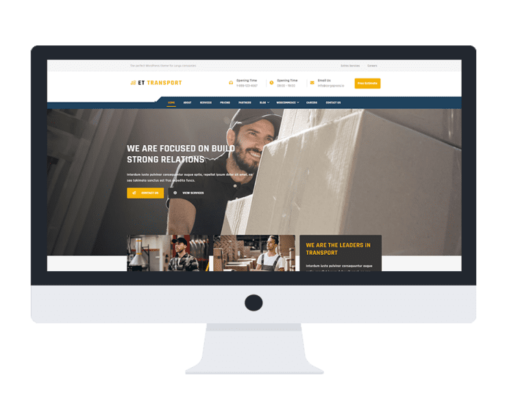 et-transport-wordpress-theme-free