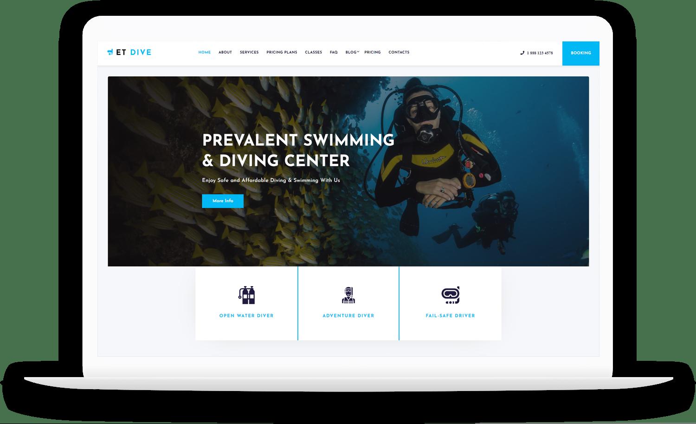 et-dive-free-wordpress-theme-elementor
